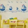 Wall Sticker Blue Sail uk.70x50