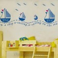 Wall Sticker Blue Sail uk.70x50