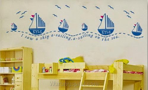 Wall Sticker Blue Sail uk