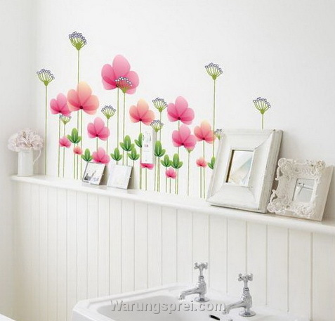 cara memasang wallsticker - warungsprei