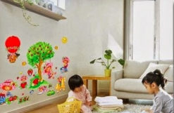 Wall Sticker Strawberry Girl uk.90x60