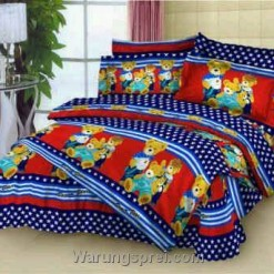 Sprei Denim Bear Merah uk.160 t.25cm