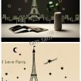 Wall Sticker Glow in the dark : I Love Paris uk.90x60