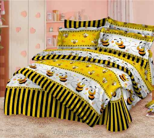 Bed Cover Set Lebah Kuning uk.200 t