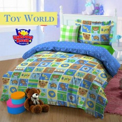 Sprei STAR Toy World Biru uk.180 t.25cm