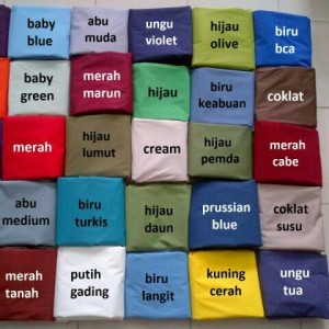 sprei waterproof pilihan warna