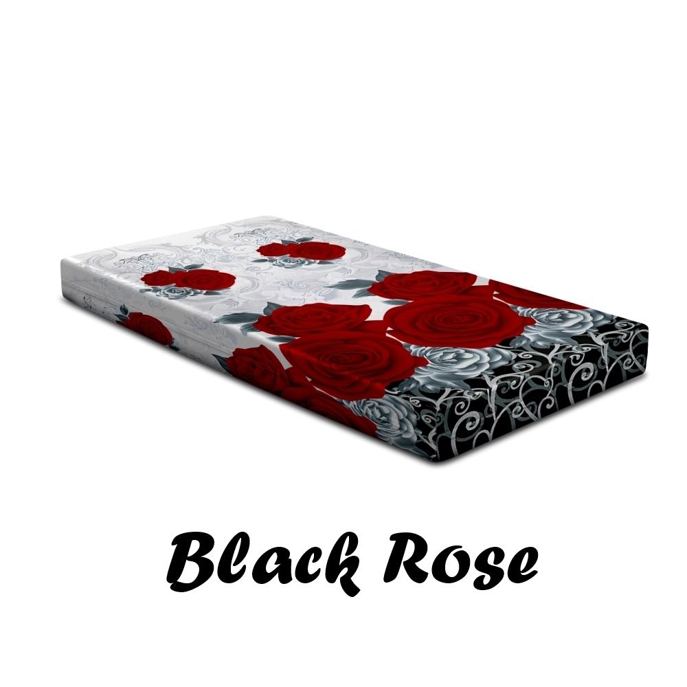 Sarung Kasur Monalisa Disperse Black Rose