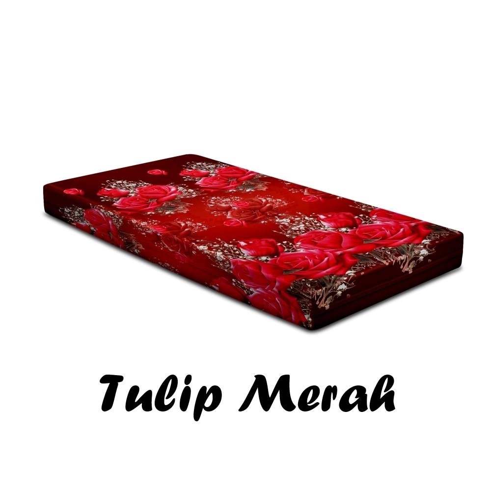 Sarung Kasur Monalisa Disperse Tulip Merah