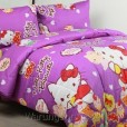 Sprei Panca Kitty Biscuit Ungu