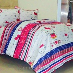 Sprei Panca Kitty Dreamhouse Pink