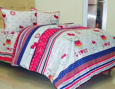 Sprei Panca Kitty Dreamhouse Pink 1