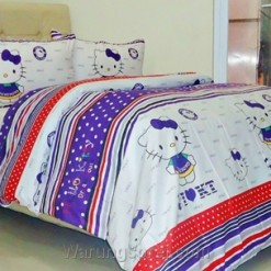 Sprei Panca Kitty Dreamhouse Ungu