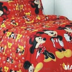 Sprei Panca Mickey Musik Merah