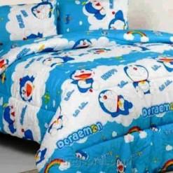 Sprei Panca Doraemon Biru