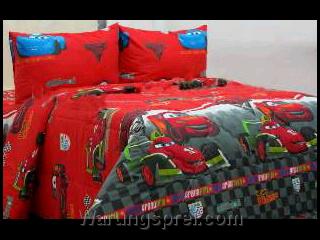 Sprei Panca Cars Wgp Merah 1