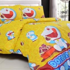 Sprei Panca Doraemon Dorayaki Kuning