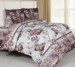 Sprei Panca Flower Shoes Coklat