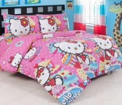 Sprei Panca Hello Kitty Cup Cake Pink