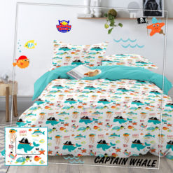 Sprei Panca Star Captain Whale