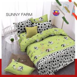 Sprei Panca Star Sunny Farm Hijau