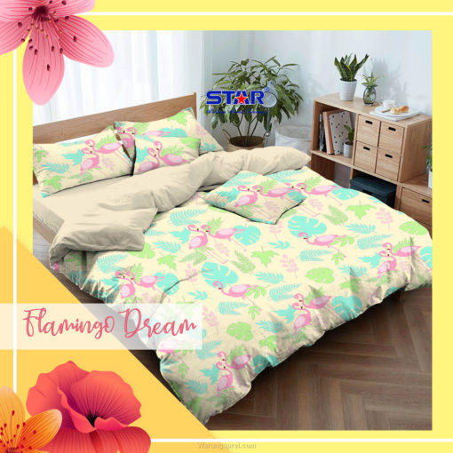 Sprei Panca STAR FLAMINGGO DREAM 1