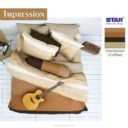 Sprei Panca STAR IMPRESSION COKLAT 1