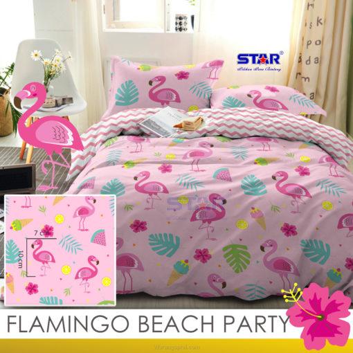 Sprei Panca STAR Flamingo Beach Party 1