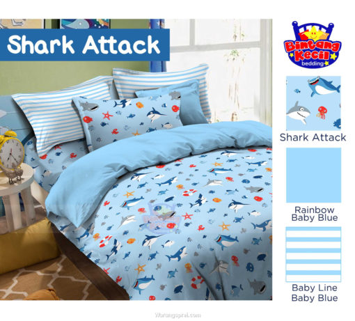 Sprei Panca STAR Shark Attack 1