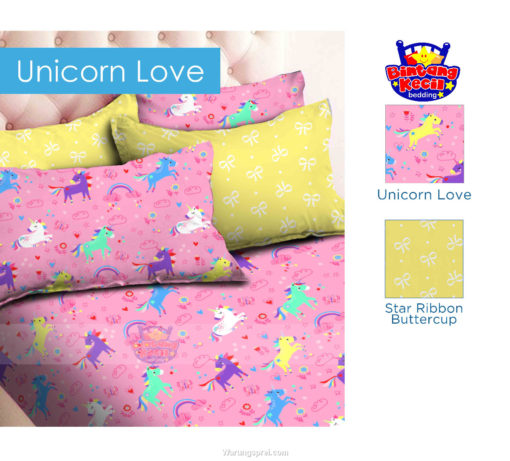 Sprei Panca STAR Unicorn Love 1