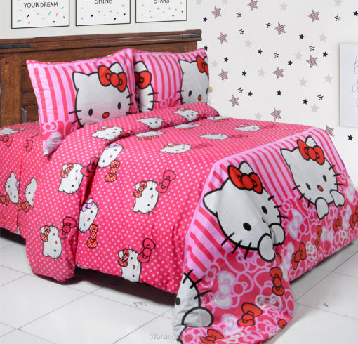 Sprei Panca Hello Kitty Ribbon 1