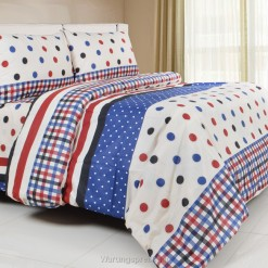 Sprei Panca Dot Strip Biru