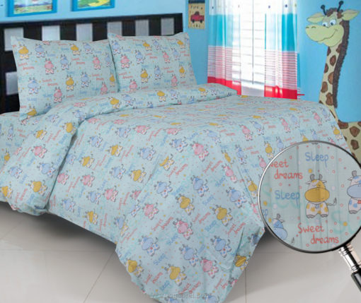 Sprei Panca Cow Sweet Dream Biru 1