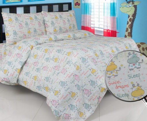 Sprei Panca Cow Sweet Dream Cream 1