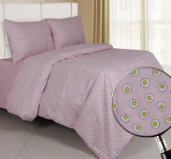 Sprei Panca Egg Drop Pink