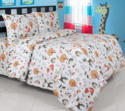Sprei Panca Forest Animals Putih