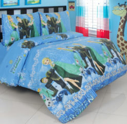 Sprei Panca Frozen Snow Day Biru