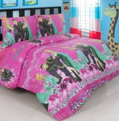 Sprei Panca Frozen Snow Day Pink