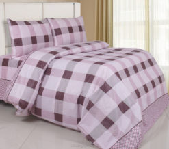 Sprei Panca Germaine Square Plum