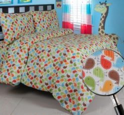 Sprei Panca Little Tweet Merah
