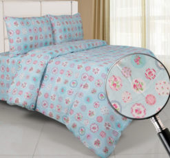 Sprei Panca Rose Berry Biru