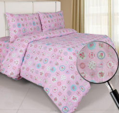 Sprei Panca Rose Berry Pink