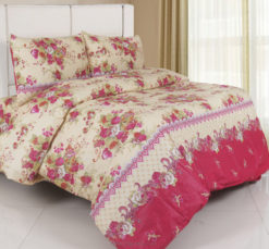 Sprei Panca Rose Queen Pink