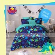 Sprei Panca Star Dino Time Navy
