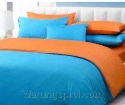 Sprei Polos Biru Muda Orange