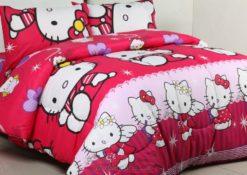 Sprei Polos Hello Kitty Angel Pink