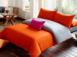 Sprei Polos Orange Grey
