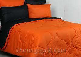 Sprei Polos Orange Hitam