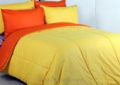 Sprei Polos Orange Kuning