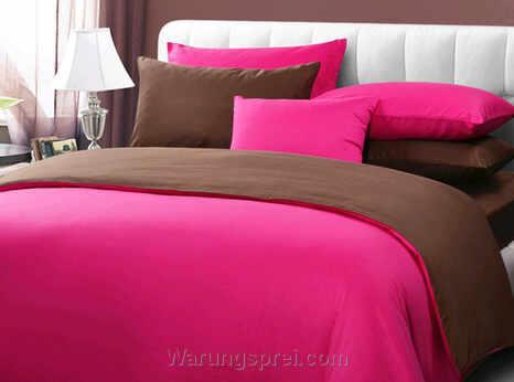 Sprei Polos Pink Coklat