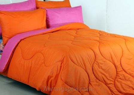 Sprei Polos Pink Orange